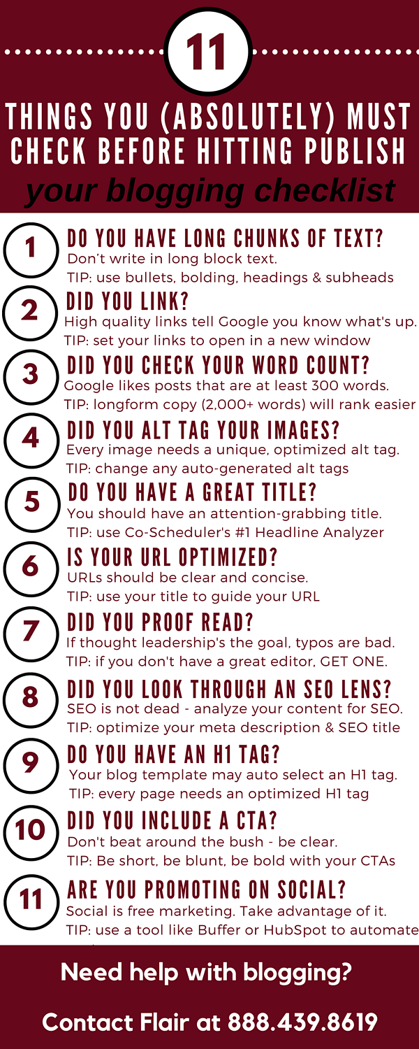 11 things before publish