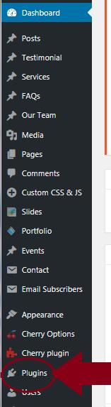 wordpress plugin menu