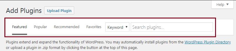 add plugins menu