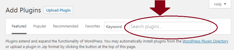 how to search for plugins