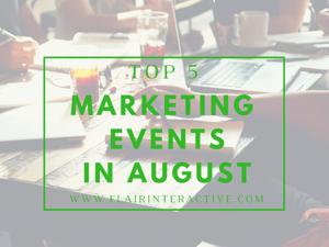 Marketing events 8.2018