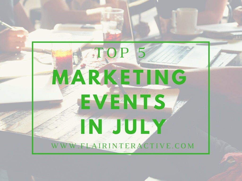 Marketing events august 2018