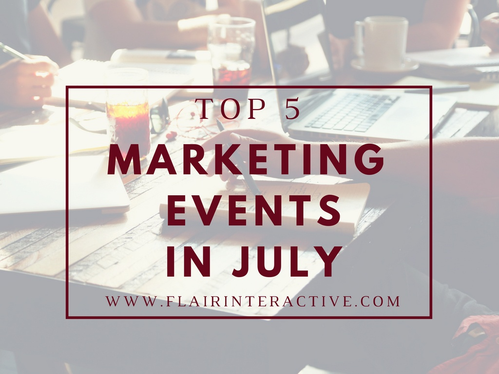 Marketing events july  2018