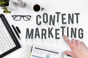 content marketing spelled on desk