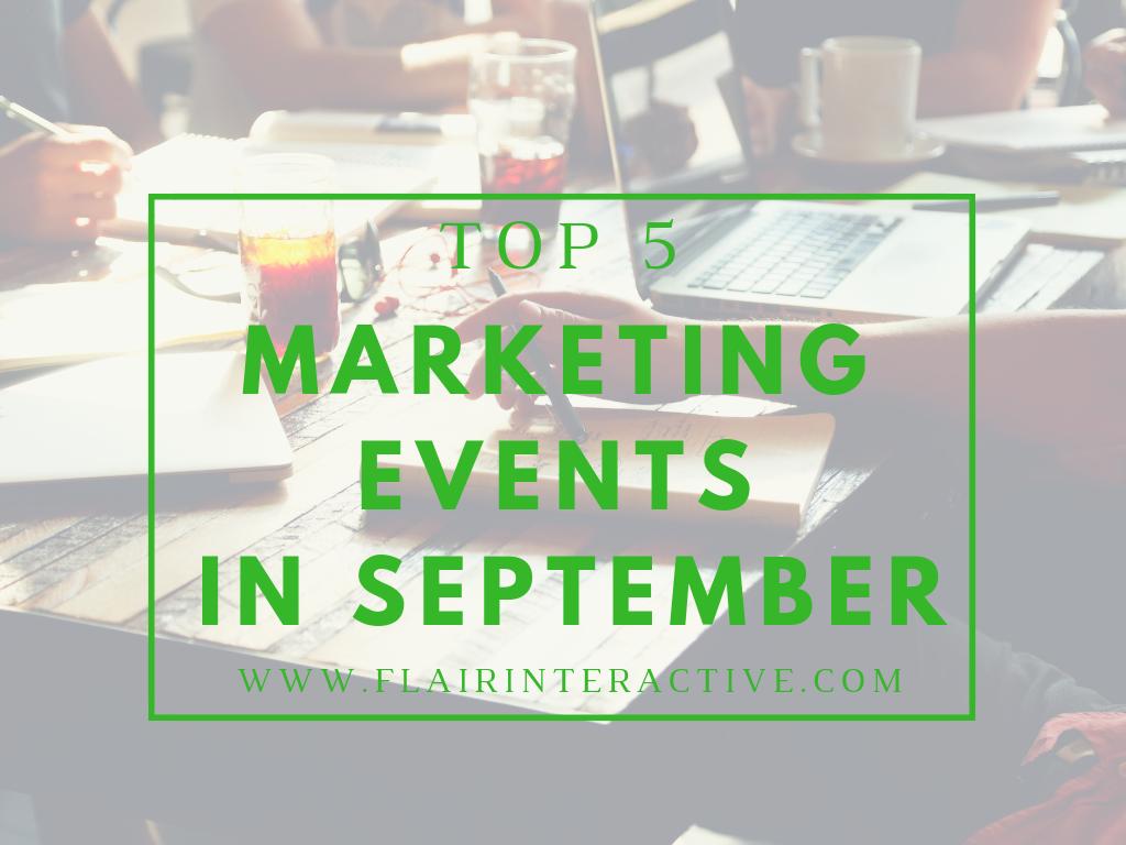 marketing events 9.2018