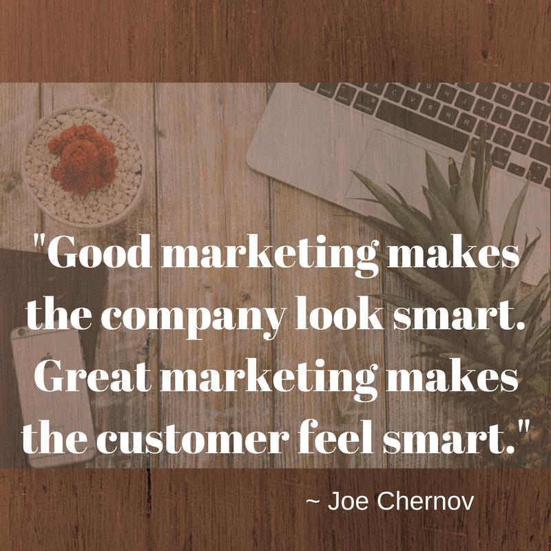 marketing quote by joe chernov