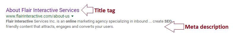 seo title and meta description examples