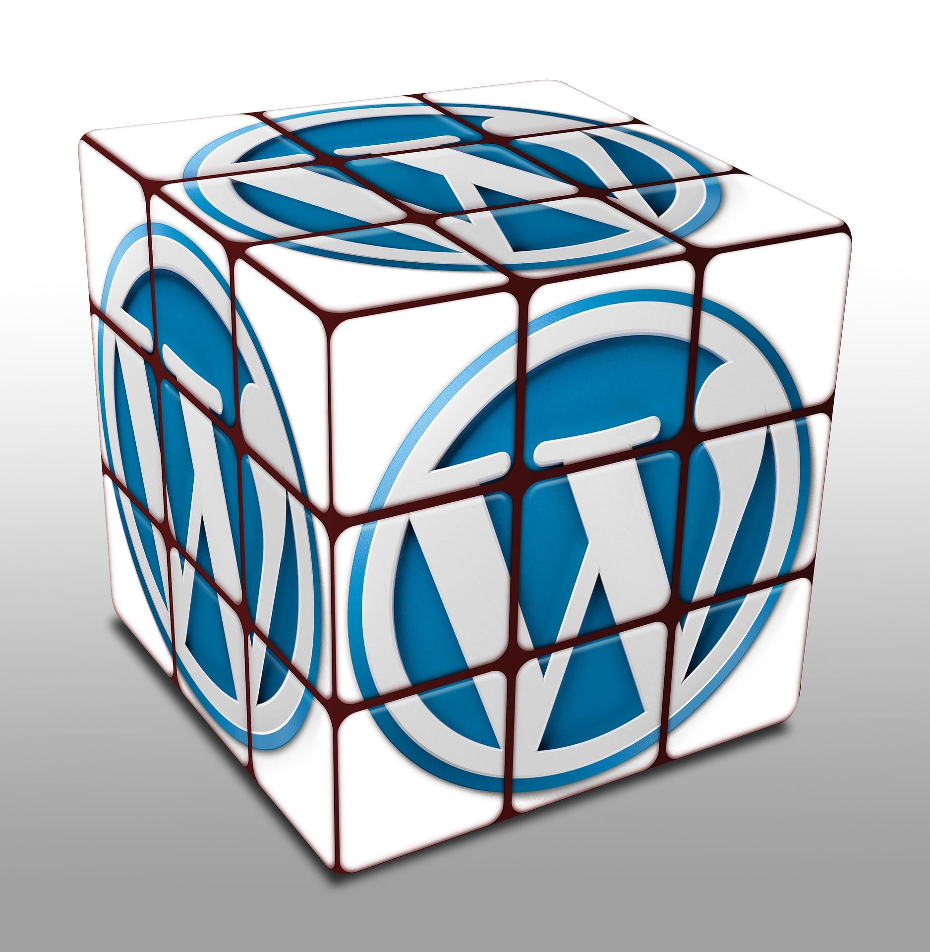 wordpress rubix cube